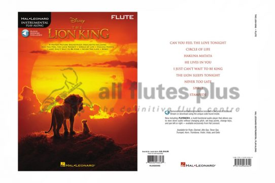 The Lion King sheet music for flute