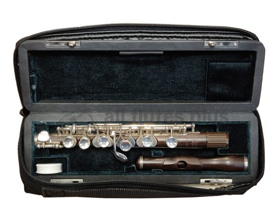 Hammig Cocus Wood Secondhand Piccolo with Silver Plated Keys-c8828