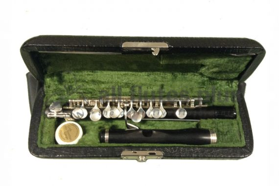 Hammig Grenadilla Wood Secondhand Piccolo with Reform Headjoint-c8831