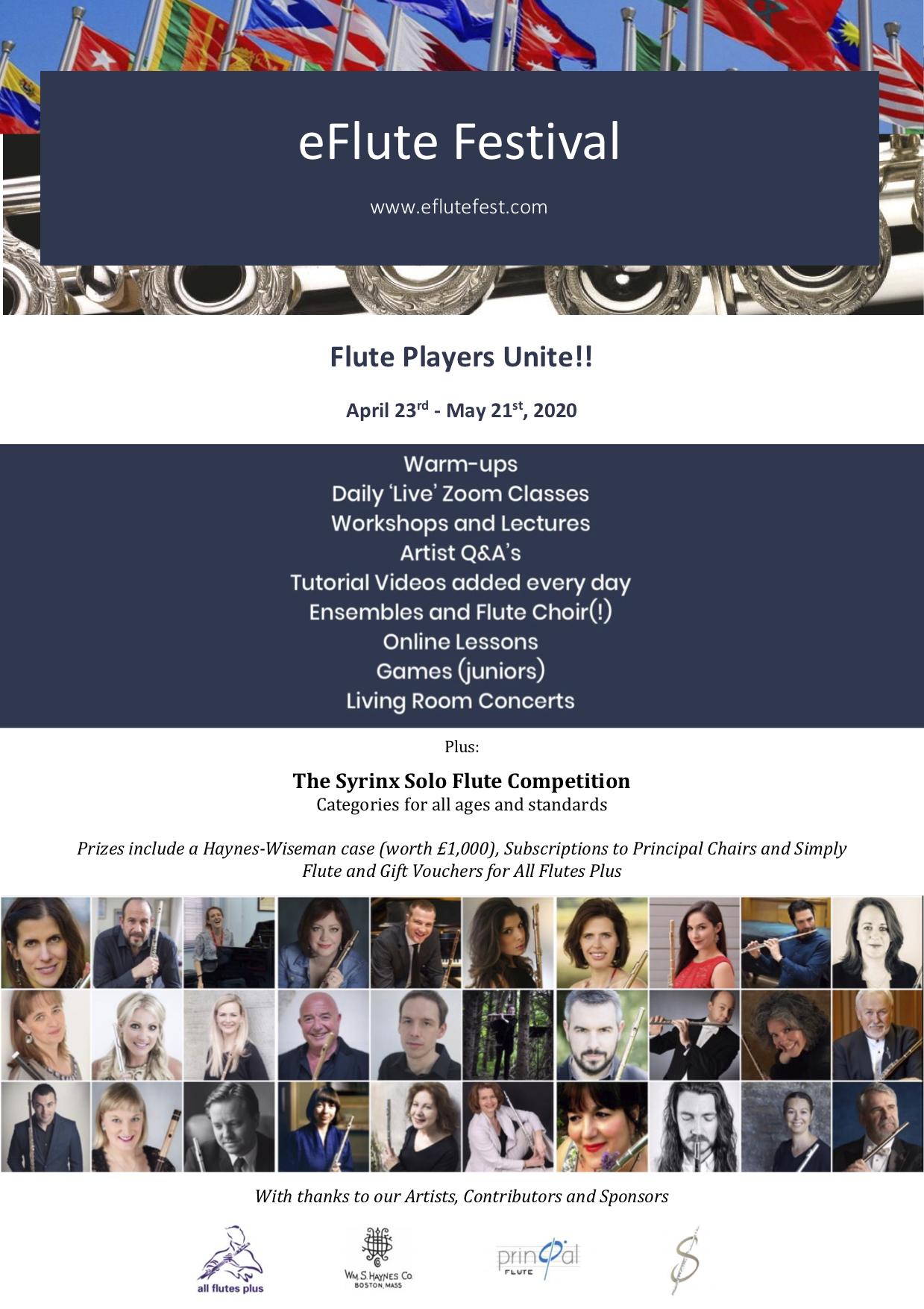 eFlute Festival Poster 2020
