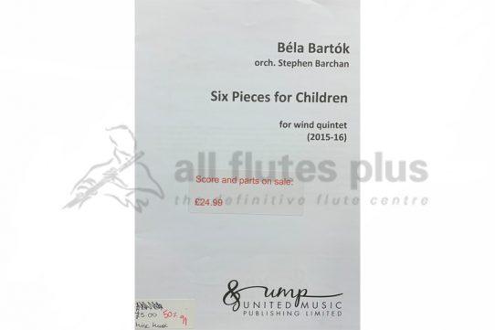 Bartok Six Pieces for Children-Wind Quintet-UMP