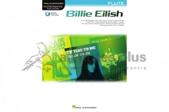 Billy Eilish-Instrumental Playalong for Flute-Hal Leonard