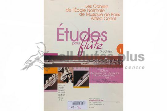 Etudes pour Flute en 3 Cahiers-Leduc