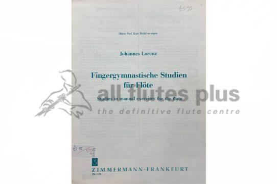 Lorenz Studies in manual exercises for flute-Zimmermann