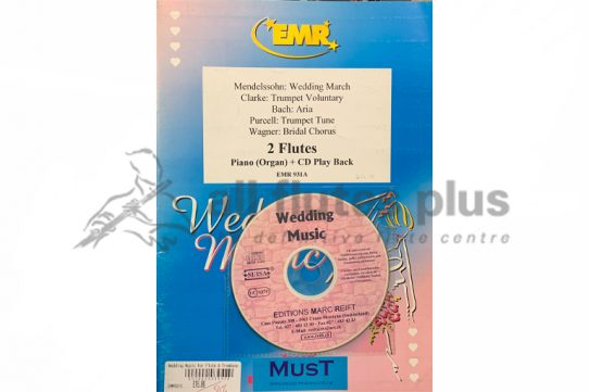 Mendelssohn Wedding Music-2 Flutes and Piano with CD Play back-Editions Marc Reift