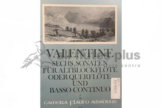 Valentine Six Sonatas-Flute and Basso Continuo-Amadeus