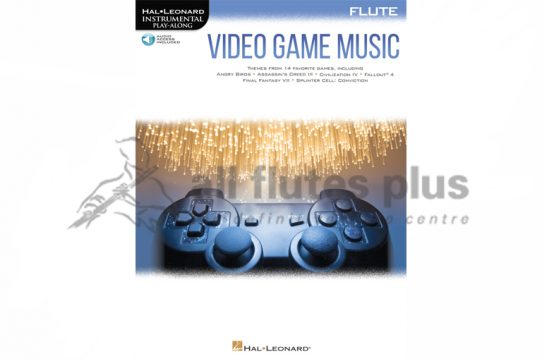 Video Game Music-Instrumental Playalong for Flute-Hal Leonard