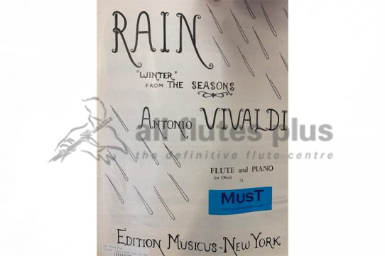 Vivaldi Rain 'Winter' from the Seasons-Flute and Piano-MusT