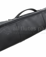 All Flutes Plus Black Leather Case Cover Side View