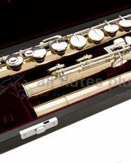 Yamaha YFLA421 Alto Flute-Straight and Curved Headjoint Keywork